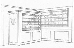 Gangwere Residence Organ Original Sketch