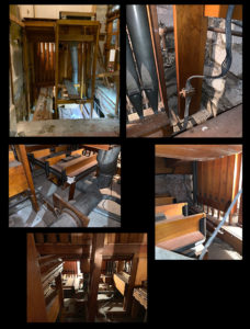 Church of the Messiah, Rhinebeck, NY - removal photos